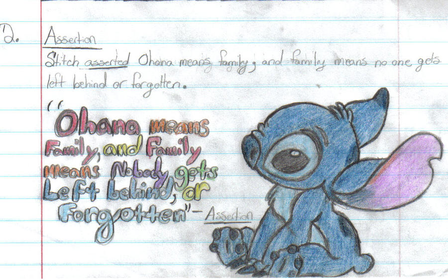 D Line Drawings Quote : Stitch drawing with quote by dreamfreewings on deviantart