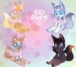 Cheap pups $10 Each~ [1/4 open] by SourdoeArt