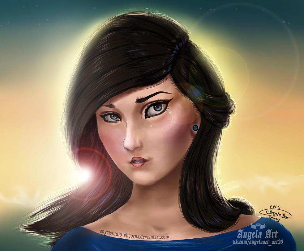 Angela Art portrait by AngelStudio-Alicorns