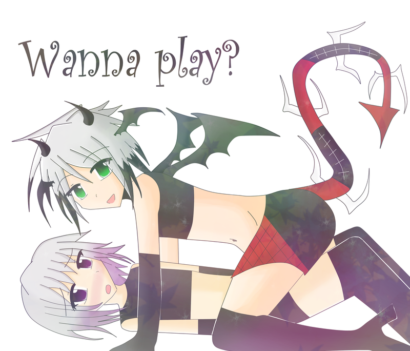 Commision: Wanna Play? by Doomylicious