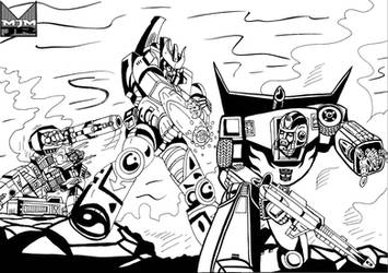 Transformers War - Original by wondermanrules