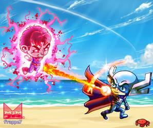 Wonder Man vs Grim Reaper by wondermanrules