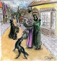 Padfoot in Hogsmeade by DoraTheBrit