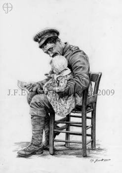 Soldier and Infant, 1917