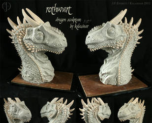 Rothwart the Dragon Sculpture by Kalasinar