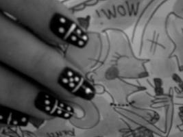 Domino Nails by marieclaire1990