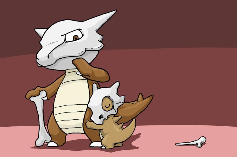Sad Cubone Pokemon Drawing Images | Pokemon Images