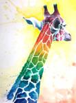 Watercolor Giraffe by Zerochan923600