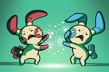 The Plusle and Minun Family
