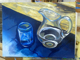 Water jug and Coke glass - WIP by Calucifer13