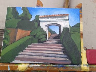 Chrast Park Gate (WIP 2) by Calucifer13