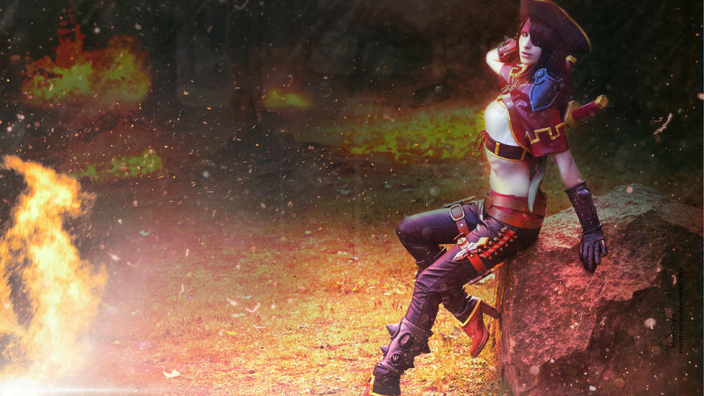 Katarina Cosplay Wallpaper League of Legends HD by ...