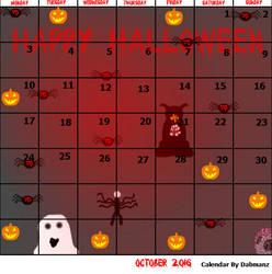 October 2016 Halloween Calendar by Dabmanz