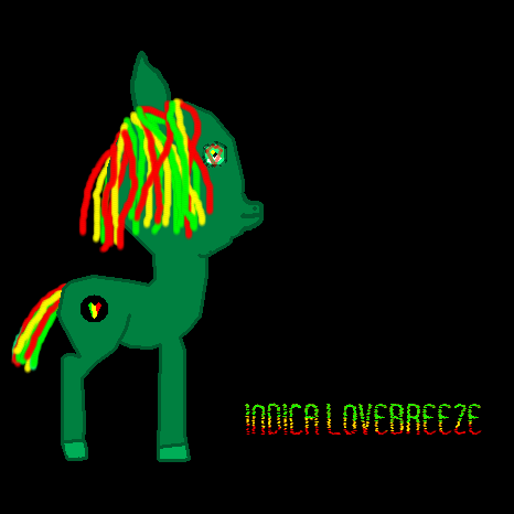 My new mlp oc Indica Lovebreeze by Dabmanz