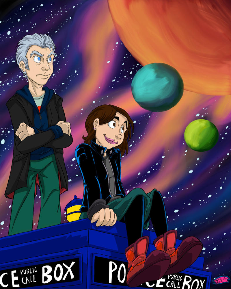 doctor who~ 12 and Clara by JessicaMalanowski03