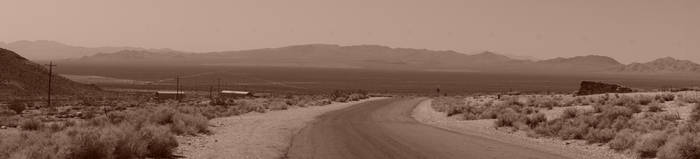 Road leading to Rhyolite, Ghost Town
