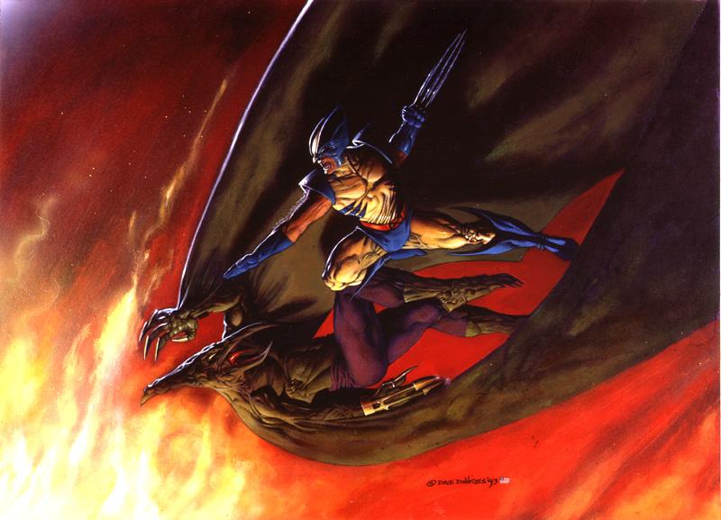 Wolverine Vs Sauron by DaveDeVries