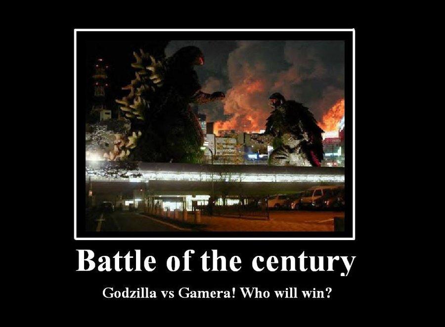 Godzilla vs Gamera by rumper1