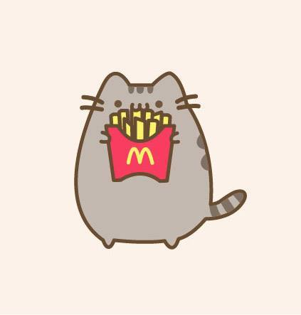 Pusheen With Fries By Munchkinsaysmeow On DeviantArt