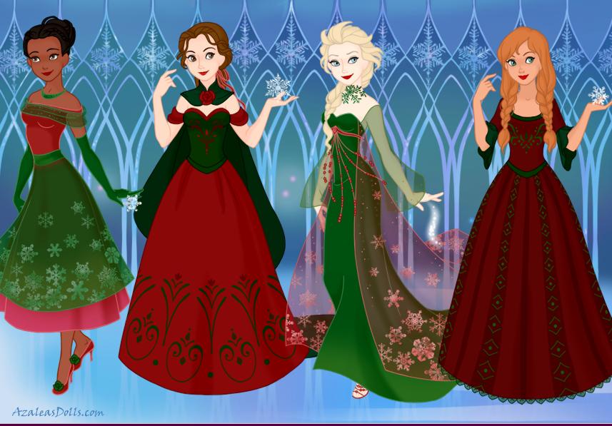 Christmas Princess.Christmas Princesses By Msbrit90 On Deviantart