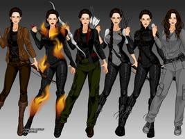 Katniss Everdeen X-girl Style by msbrit90
