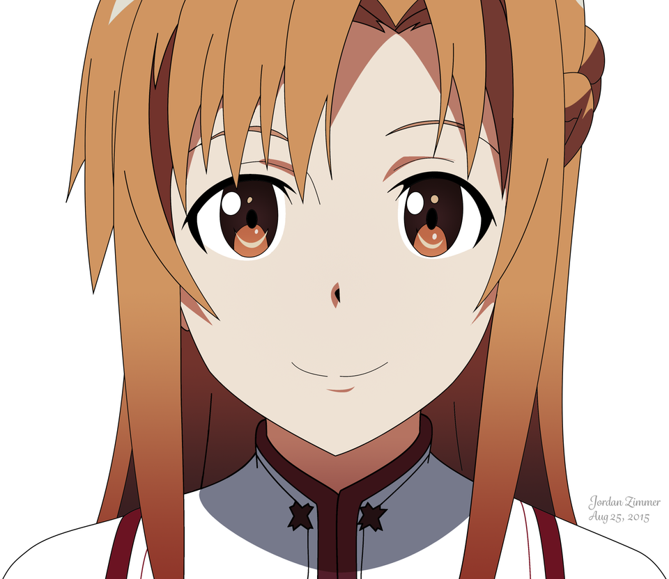Sword Art Online Asuna Vector Drawing By Yursa On Deviantart