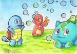 Pokemon Starters Gen 1 by EllanEriksson