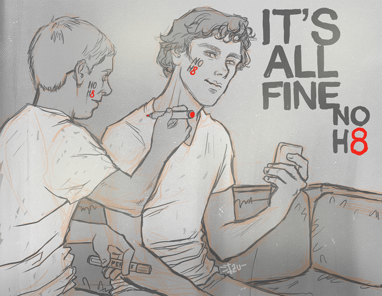 Sherlock - Its all fine, NOH8 by thenizu