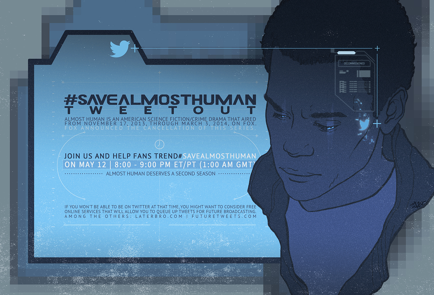 SAVE ALMOST HUMAN by thenizu