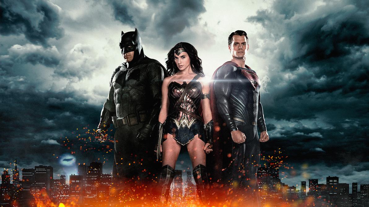 Batman V Superman The Trinity Wallpaper By Luuuuuuks