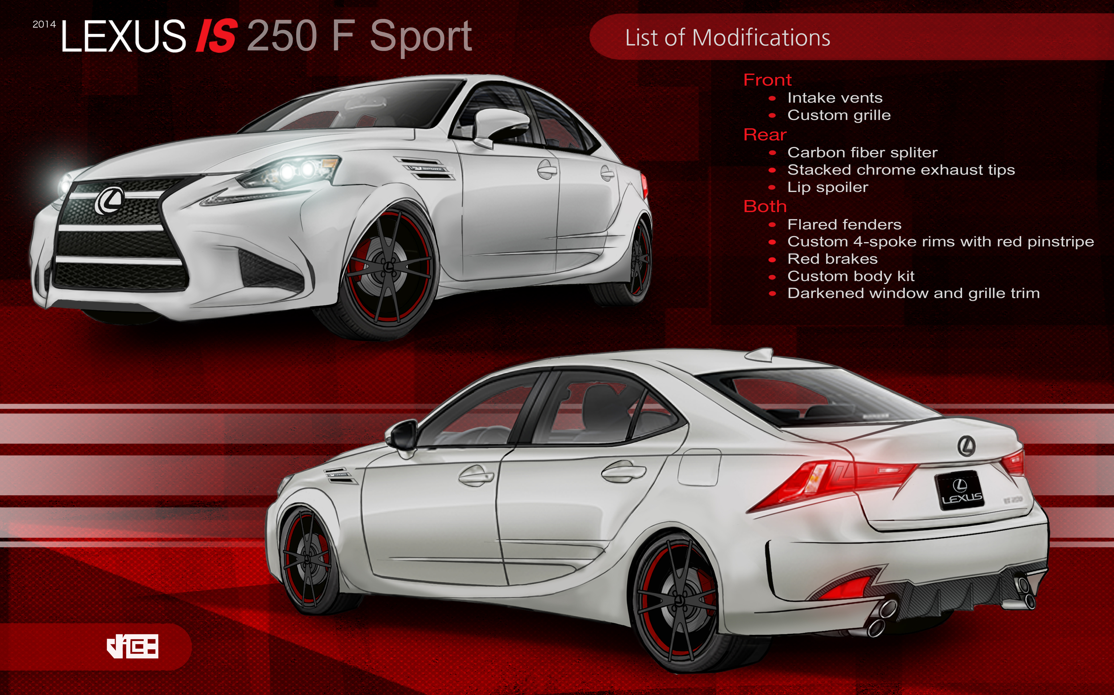 lexus is 250 f sport by jacoury on deviantart. Black Bedroom Furniture Sets. Home Design Ideas