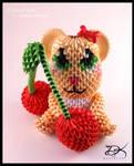 Cherry Bear  - 3D Origami -