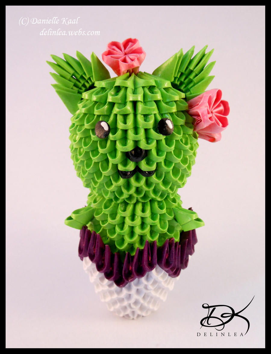3d origami puppy by rescue is possible on deviantart cactus cat 3d origami by delinlea jeuxipadfo Images