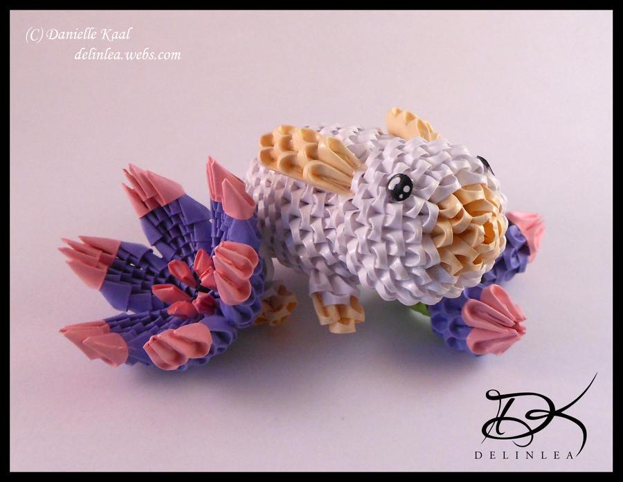 Flower Bun 3d Origami By Delinlea On Deviantart