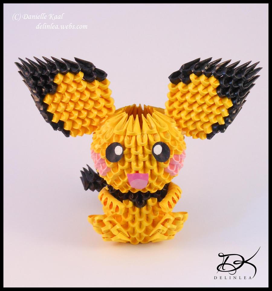Pichu + Diagram  -3D Origami-