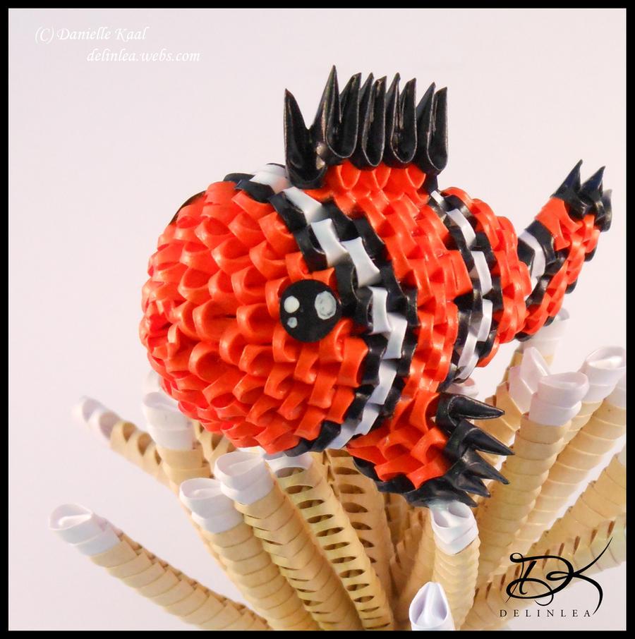 ClownFish -3D Origami- by Delinlea