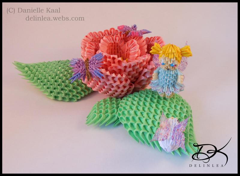 DeviantArt: More Like 3D Origami Roselia Diagram by pokegami
