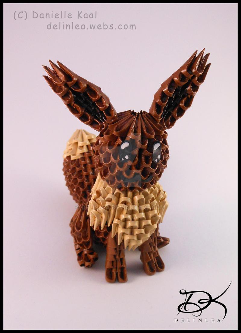 Eevee V20 3D Origami By Delinlea