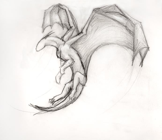simple flying dragon by thousandwordstosay on deviantart. Black Bedroom Furniture Sets. Home Design Ideas