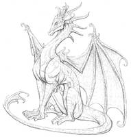 Little Dragon Sketch by ThousandWordsToSay