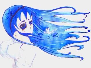 Anime angel in the wind by SeeraAi