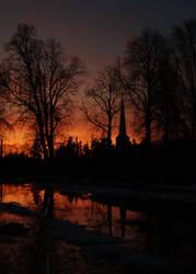 Spring sunset II by HendrikMandla