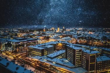 Tallinn with stars by HendrikMandla
