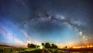 Looking at the galaxy