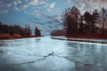 A crack in the ice by HendrikMandla