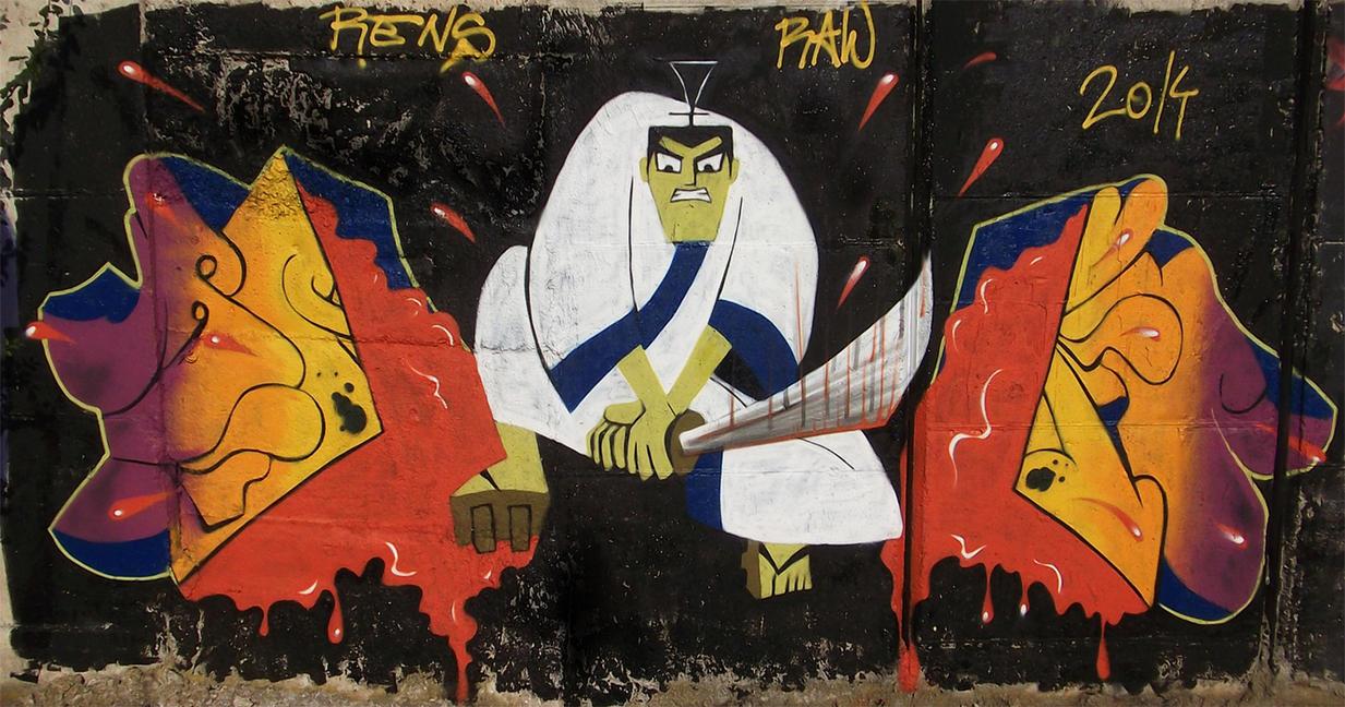 Samurai Jack hates graffiti by RawGraff