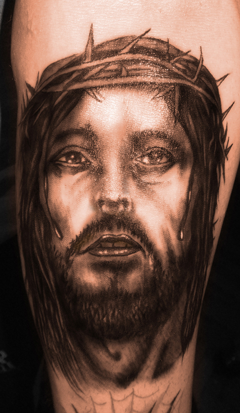 Jesus tattoo by RawGraff
