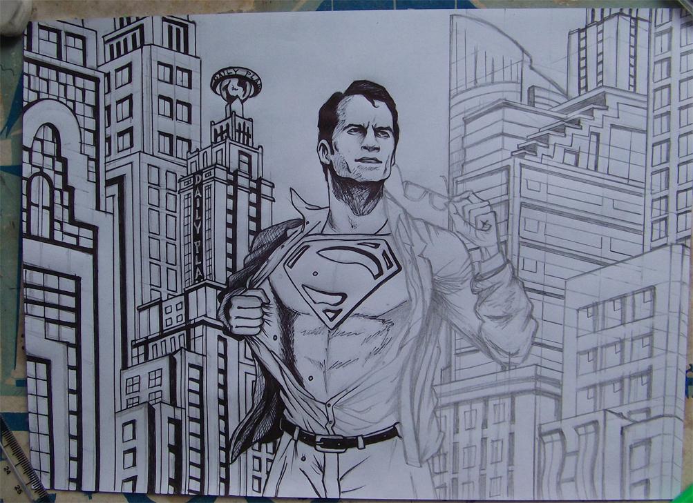Superman WIP by RawGraff