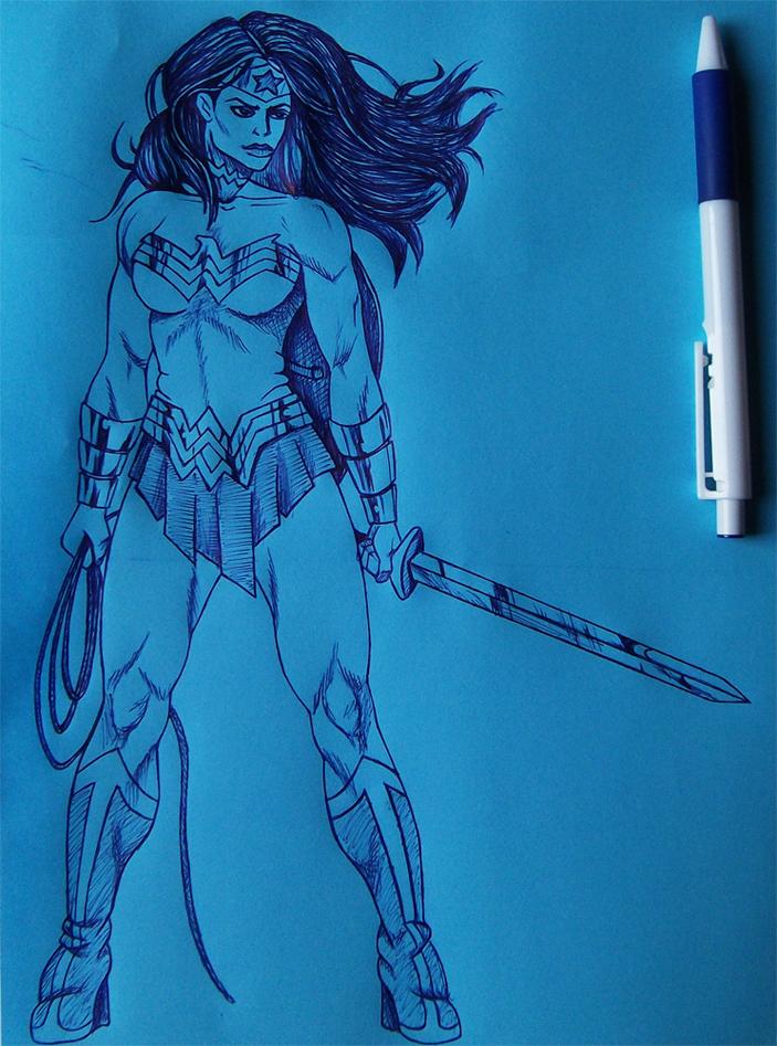 JL: Wonder Woman by RawGraff