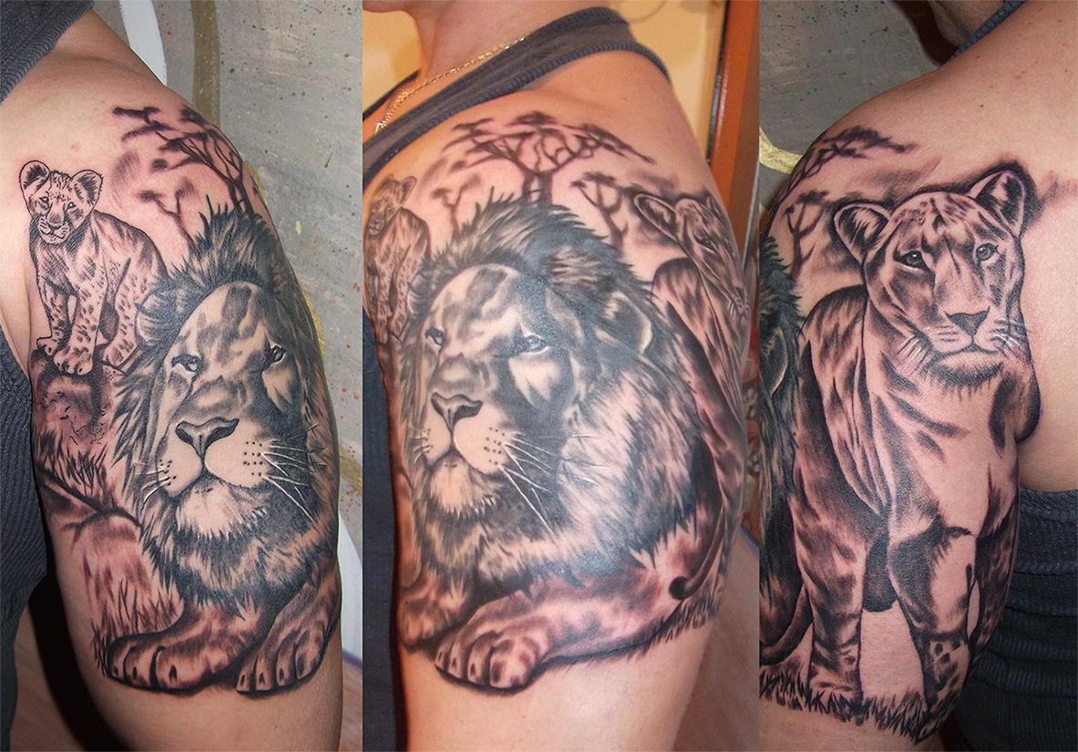 Lions by RawGraff